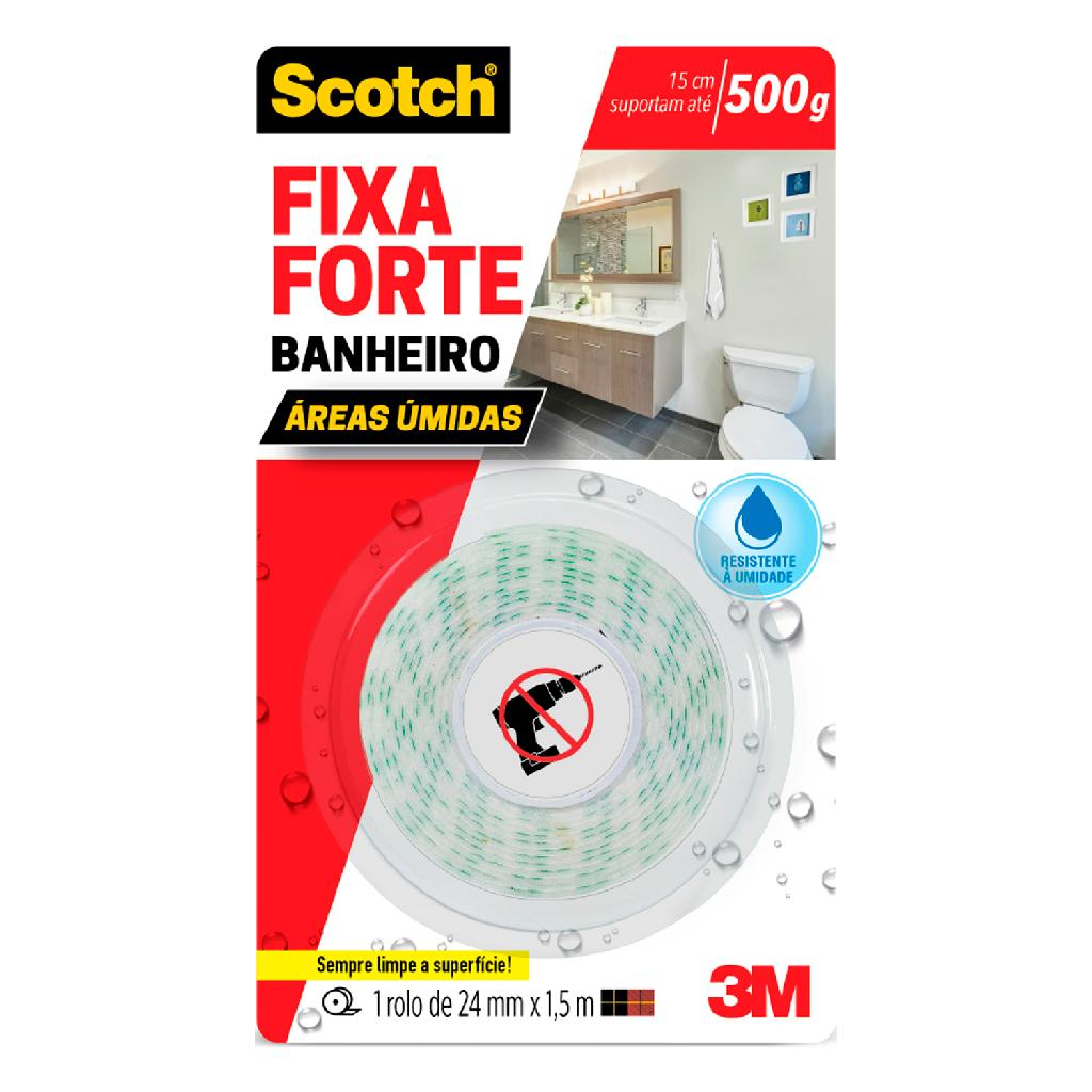 Fita Fixa Forte Banheiro 24MMX1,5M HB004488316 3M - Balaroti 53774b8e0c
