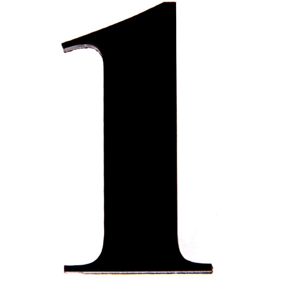 número acrílico kami 4cm n 1 preto balaroti